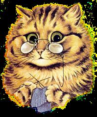 cat_knitting_T glasses