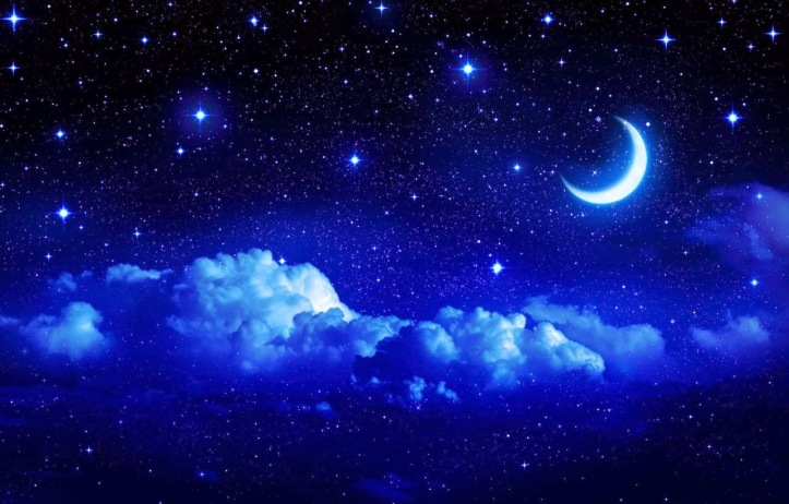 Image result for picture of the moon and stars