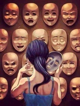 face masks showing different emotions